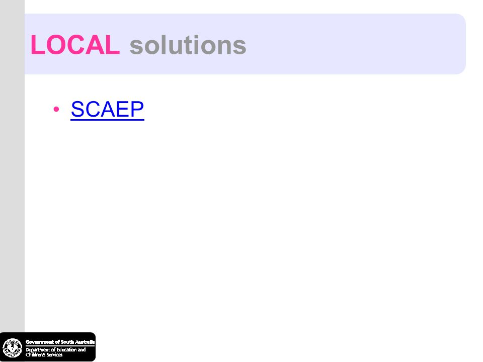 LOCAL solutions SCAEP