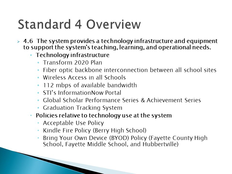 Standard 4 Overview