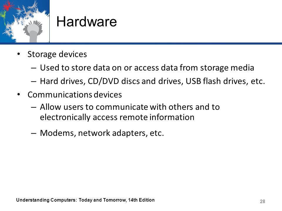 Hardware Storage devices