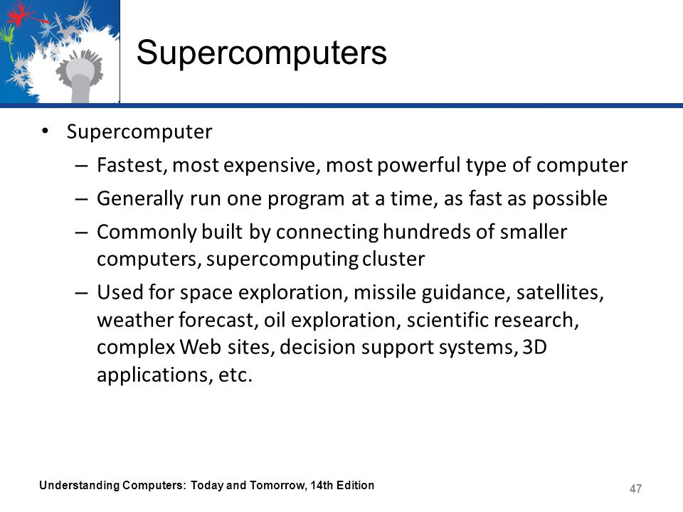 Supercomputers Supercomputer