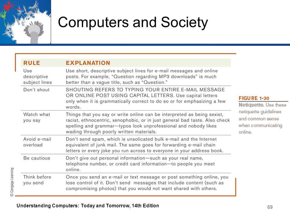 Computers and Society Understanding Computers: Today and Tomorrow, 14th Edition