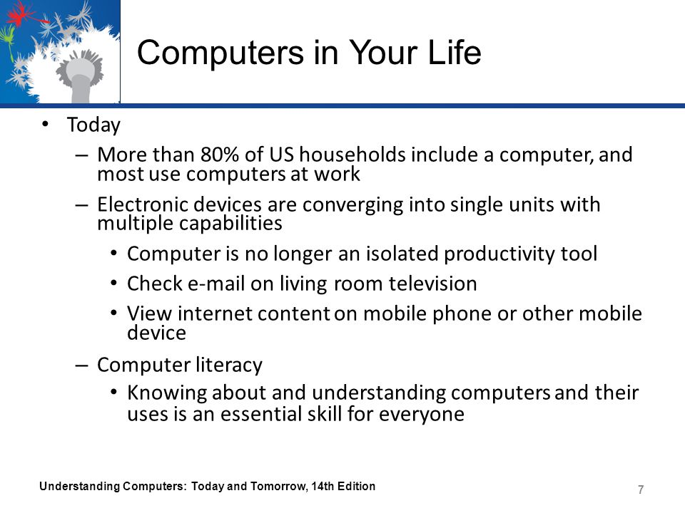 Computers in Your Life Today