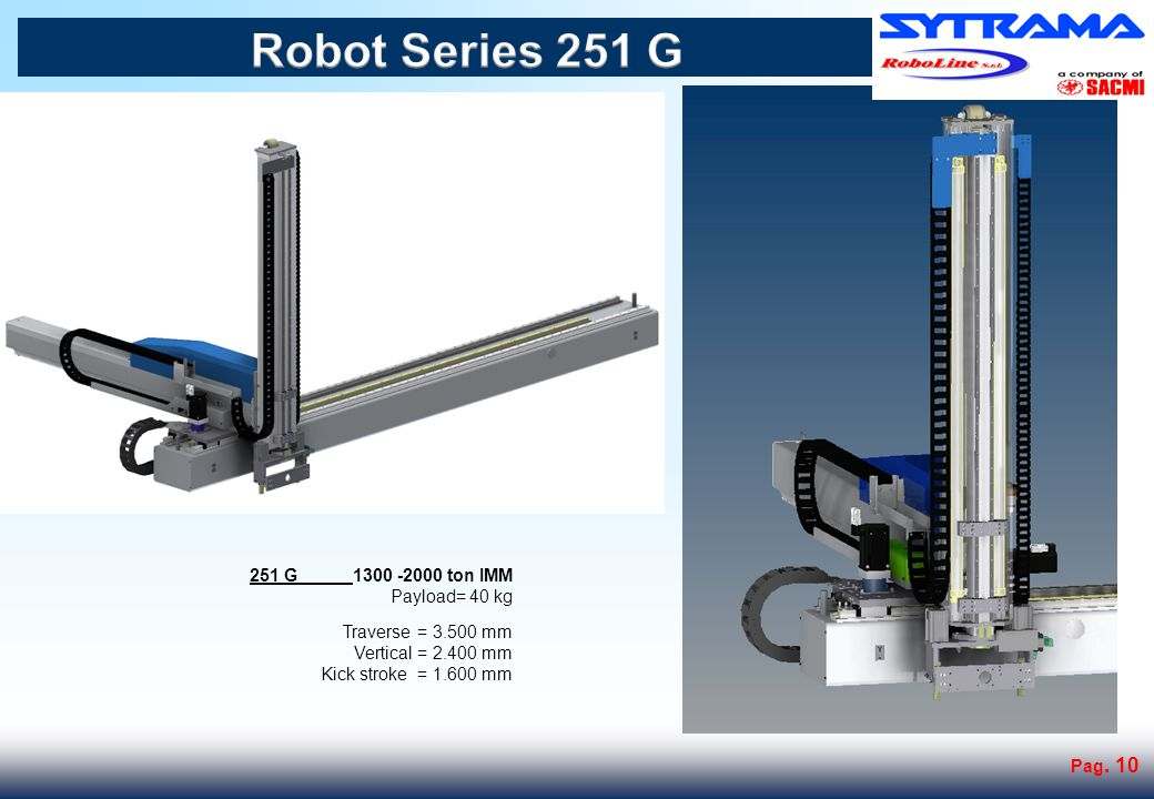 Robot Series 301 G 301 G 2000-3500 ton IMM Payload= 50 kg