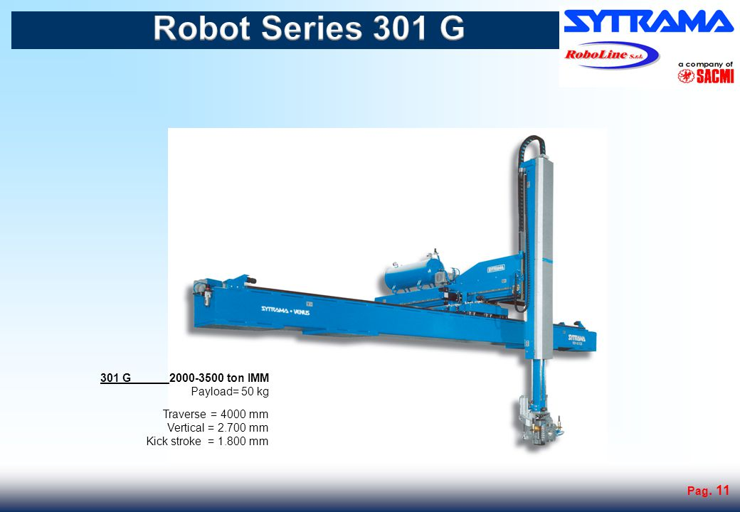 Robot Series 401 G 401G 3000-4500 ton IMM Payload= 70 kg