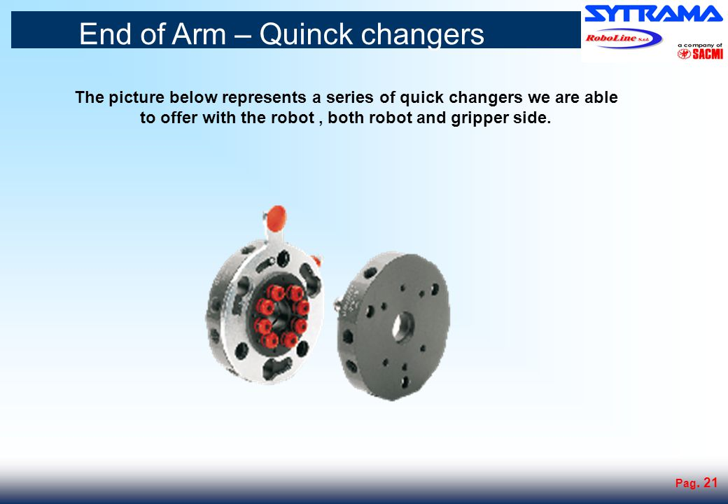 End of Arm Tooling : Examples standard grippers