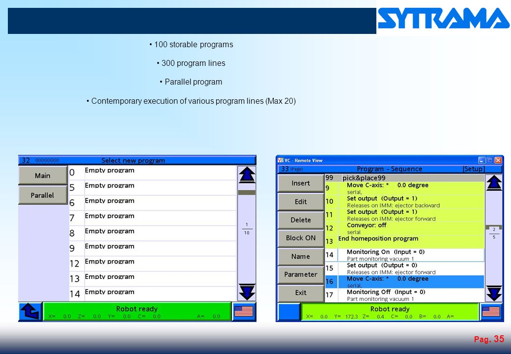 300 system variables 100 new system variables customizable for each program (Max 20 characters)