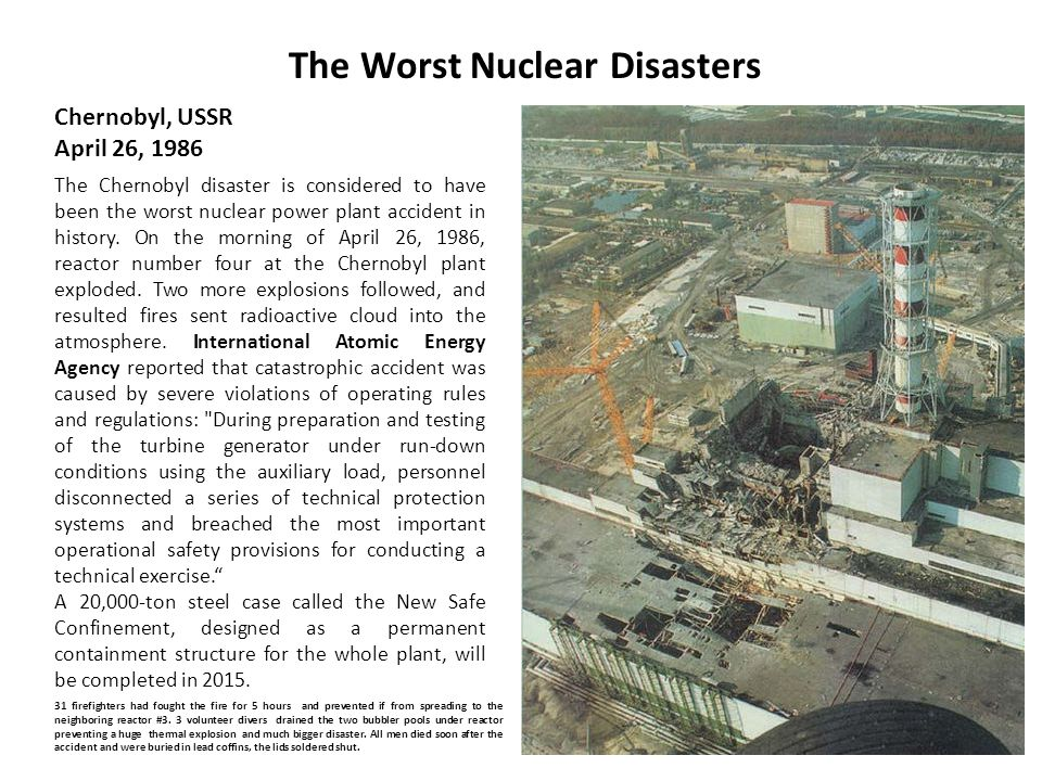 The Worst Nuclear Disasters
