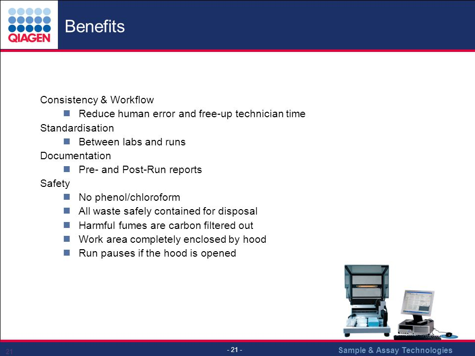 Benefits Consistency & Workflow