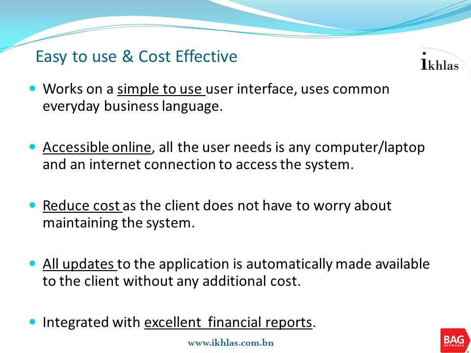 Why ikhlas Provides a cost effective platform for financial accounts management.
