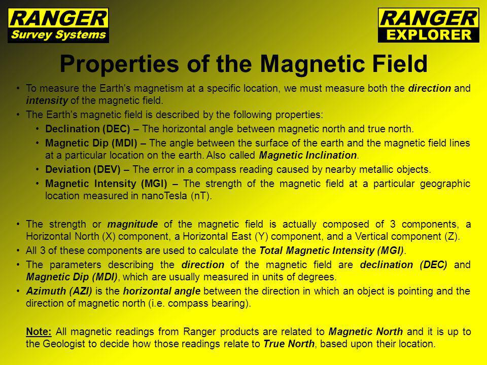 Properties of the Magnetic Field
