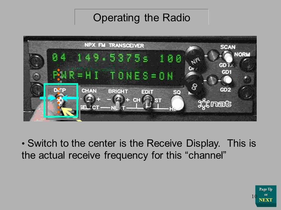 Operating the Radio Display Switch to the left shows the ID Display.