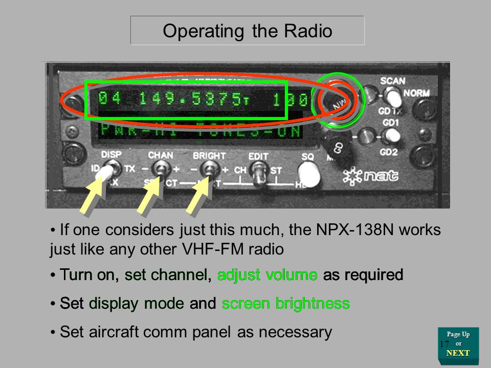 Operating the Radio If one considers just this much, the NPX-138N works just like any other VHF-FM radio.