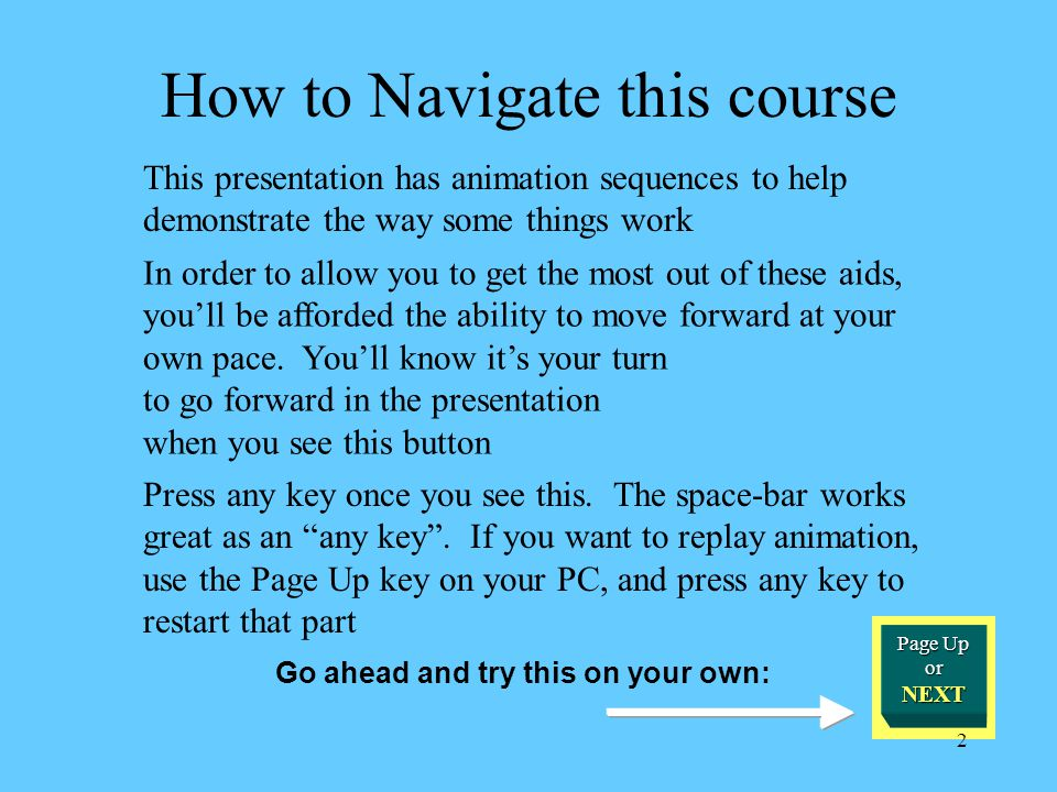 How to Navigate this course