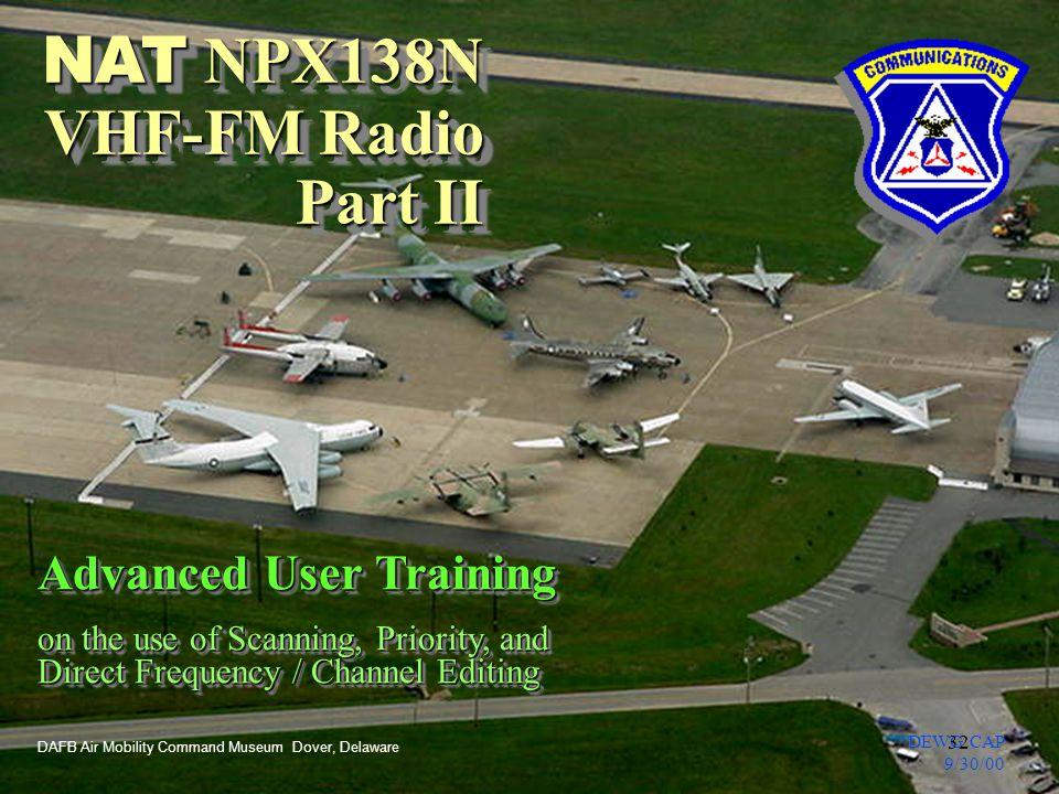 NAT NPX138N VHF-FM Radio Part II