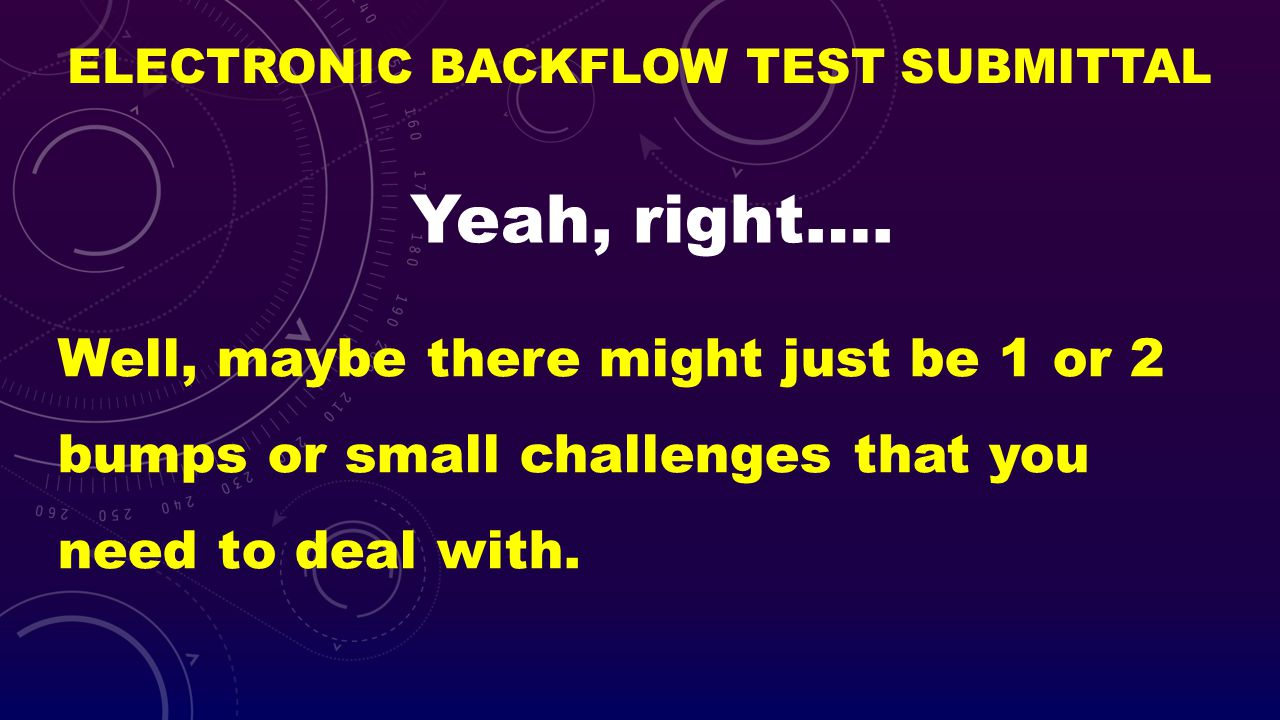 Electronic Backflow Test Submittal