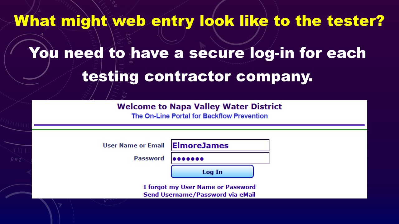 What might web entry look like to the tester