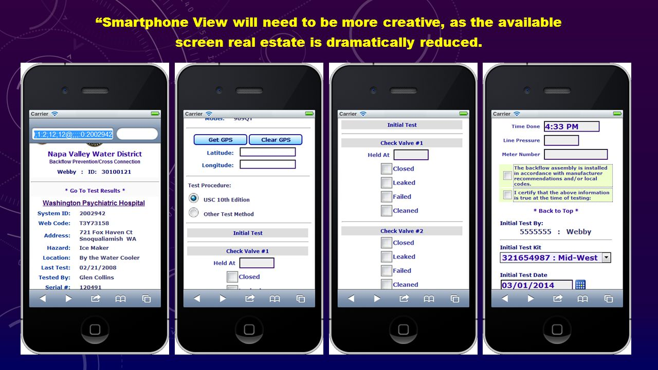 Smartphone View will need to be more creative, as the available screen real estate is dramatically reduced.