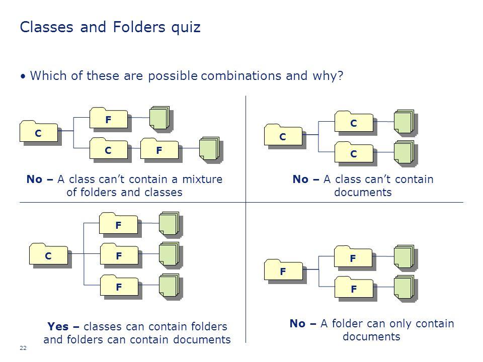 Classes and Folders quiz