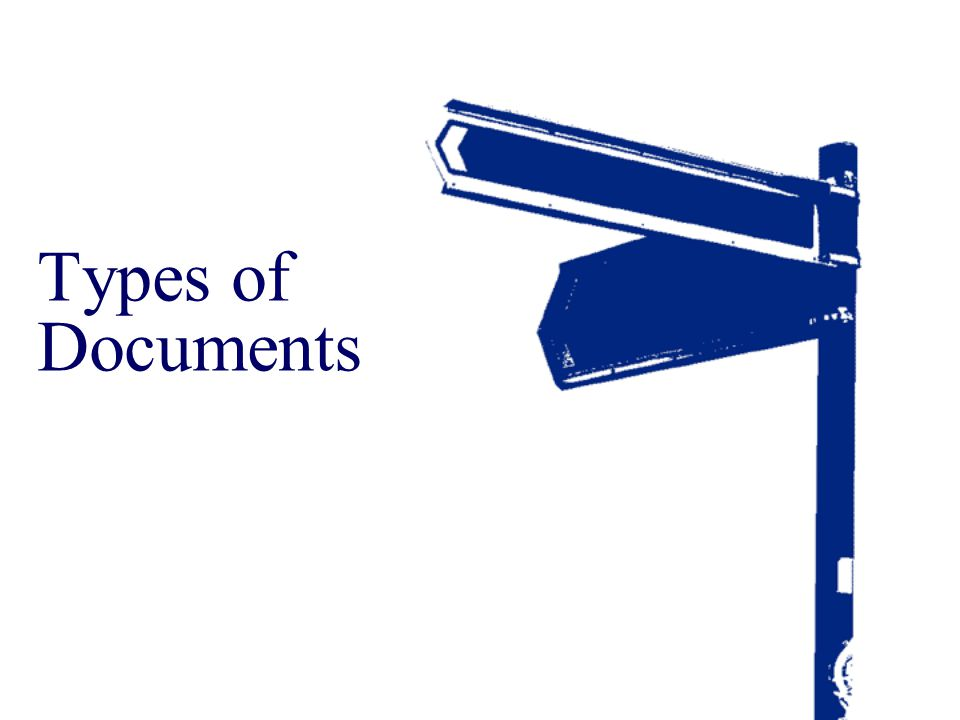 Types of Documents Trainer