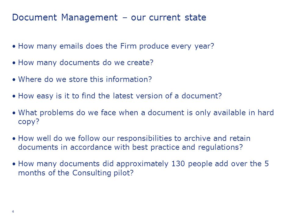 Document Management – our current state