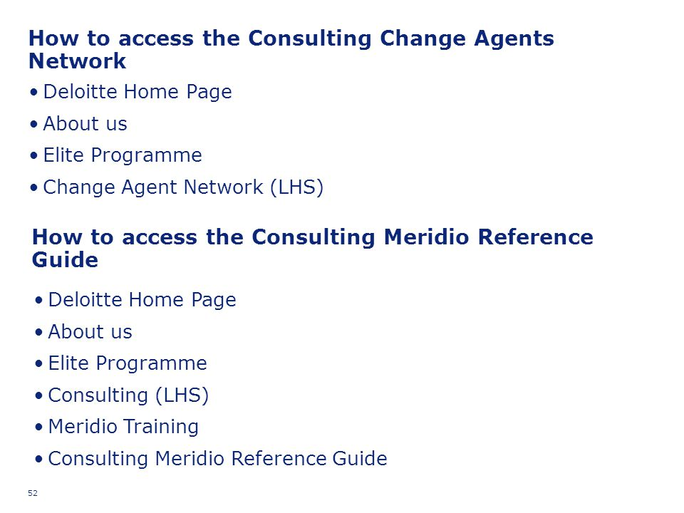 How to access the Consulting Change Agents Network