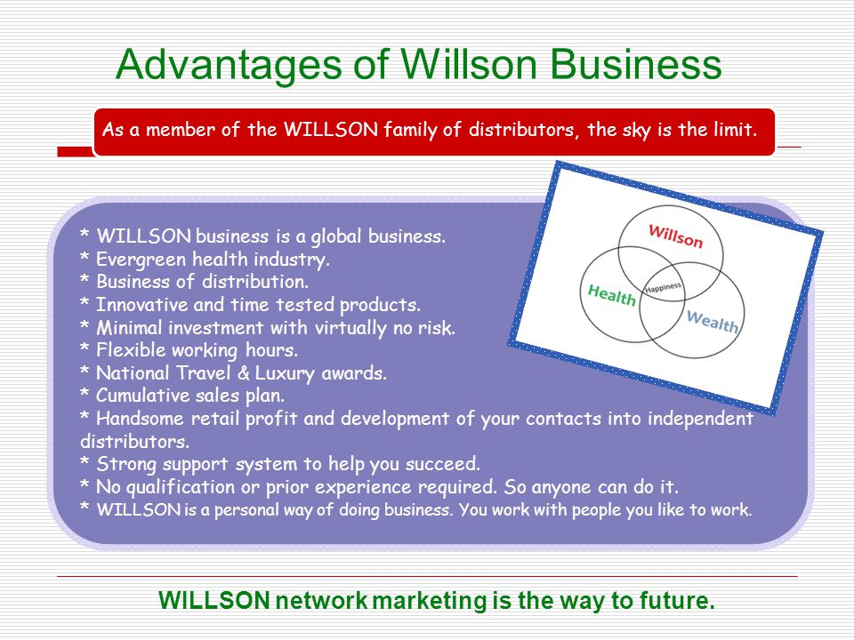 Advantages of Willson Business
