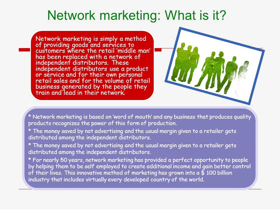 Network marketing: What is it