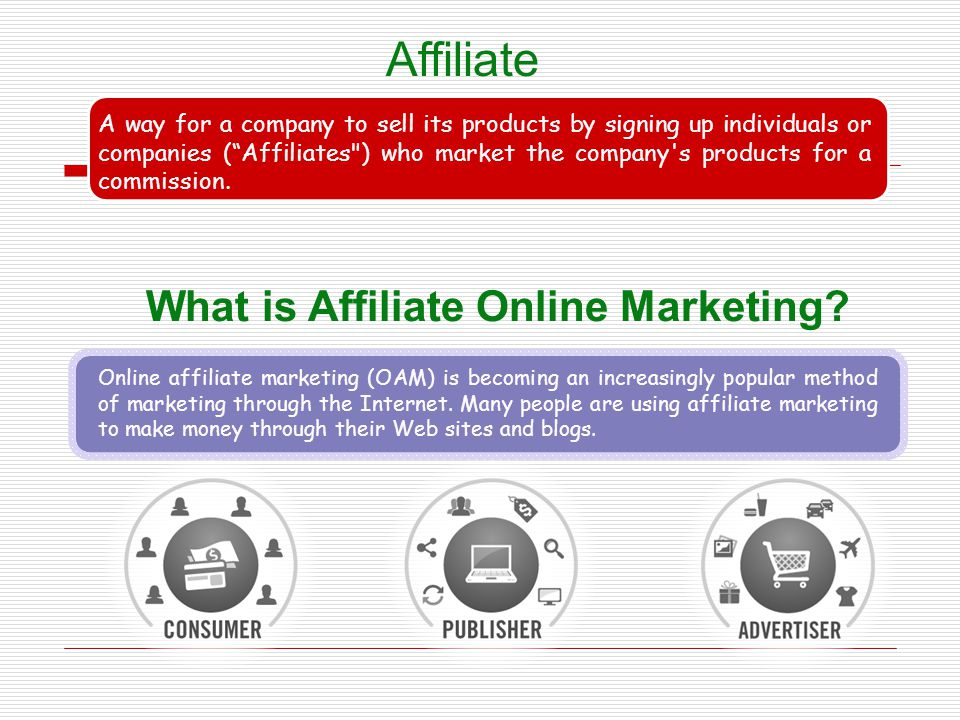 Affiliate What is Affiliate Online Marketing