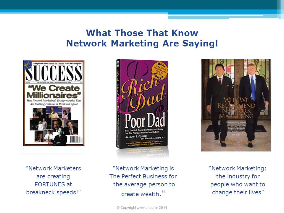 Network Marketing Are Saying!