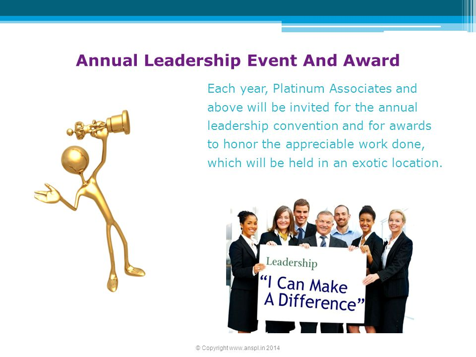 Annual Leadership Event And Award
