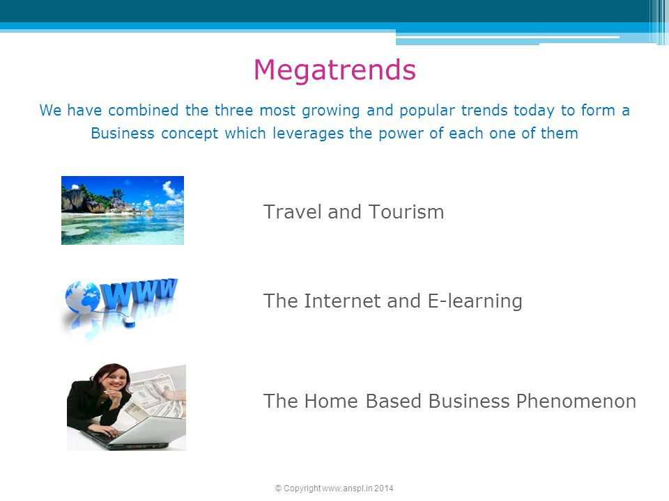 Megatrends Travel and Tourism The Internet and E-learning