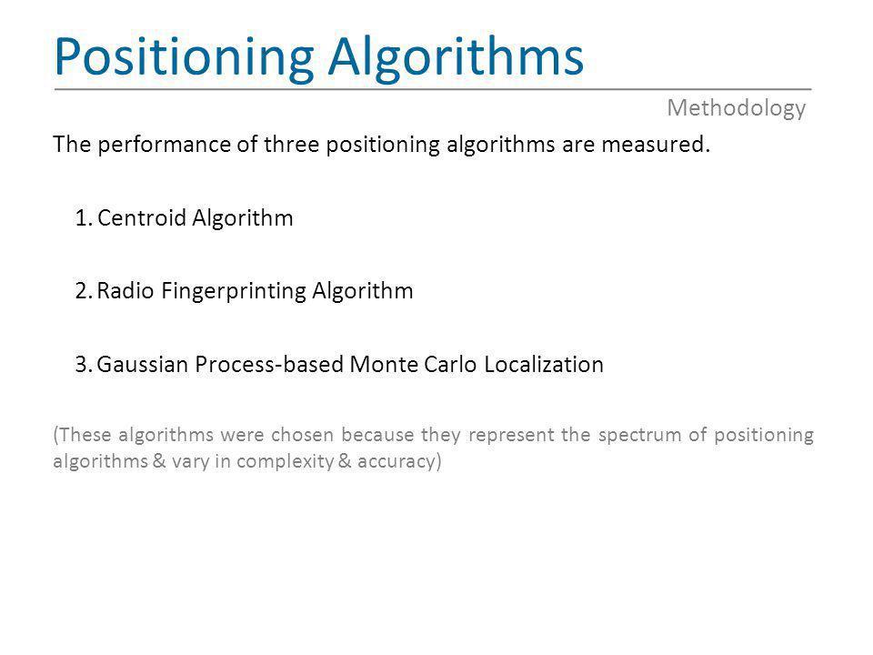 Positioning Algorithms