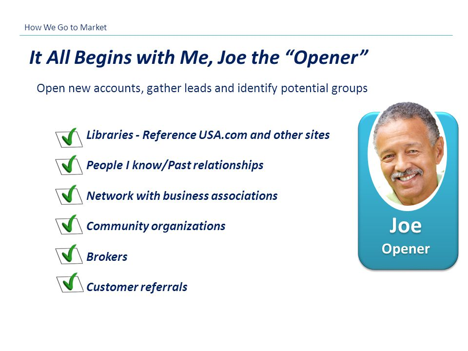 Joe Opener It All Begins with Me, Joe the Opener