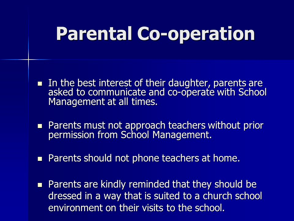 Parental Co-operation