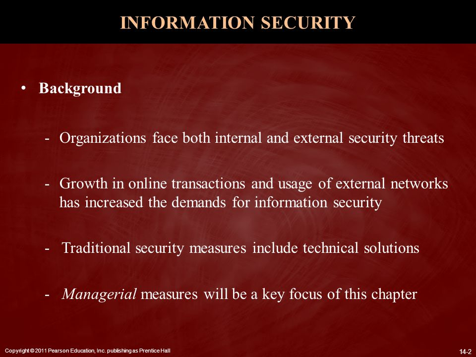 INFORMATION SECURITY Background