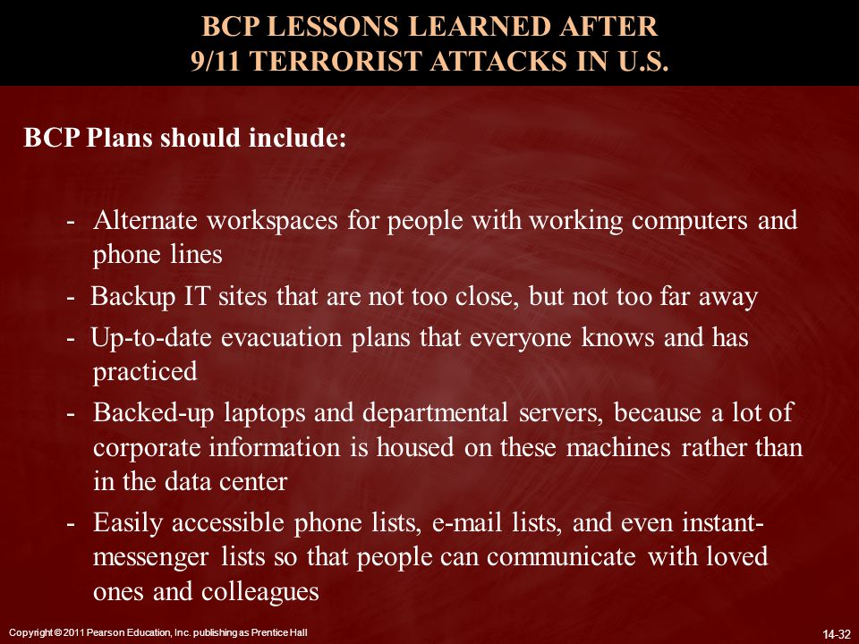 BCP LESSONS LEARNED AFTER 9/11 TERRORIST ATTACKS IN U.S.