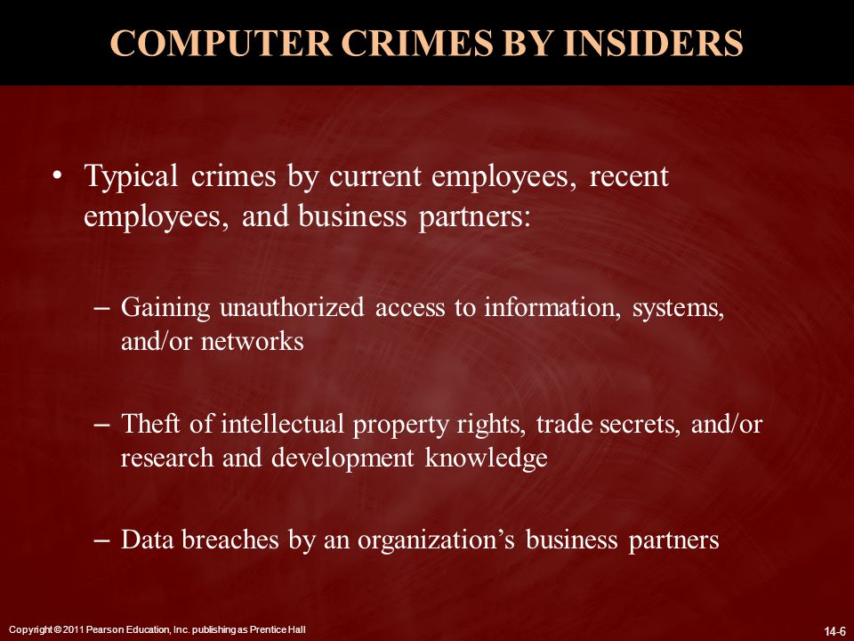 COMPUTER CRIMES BY INSIDERS