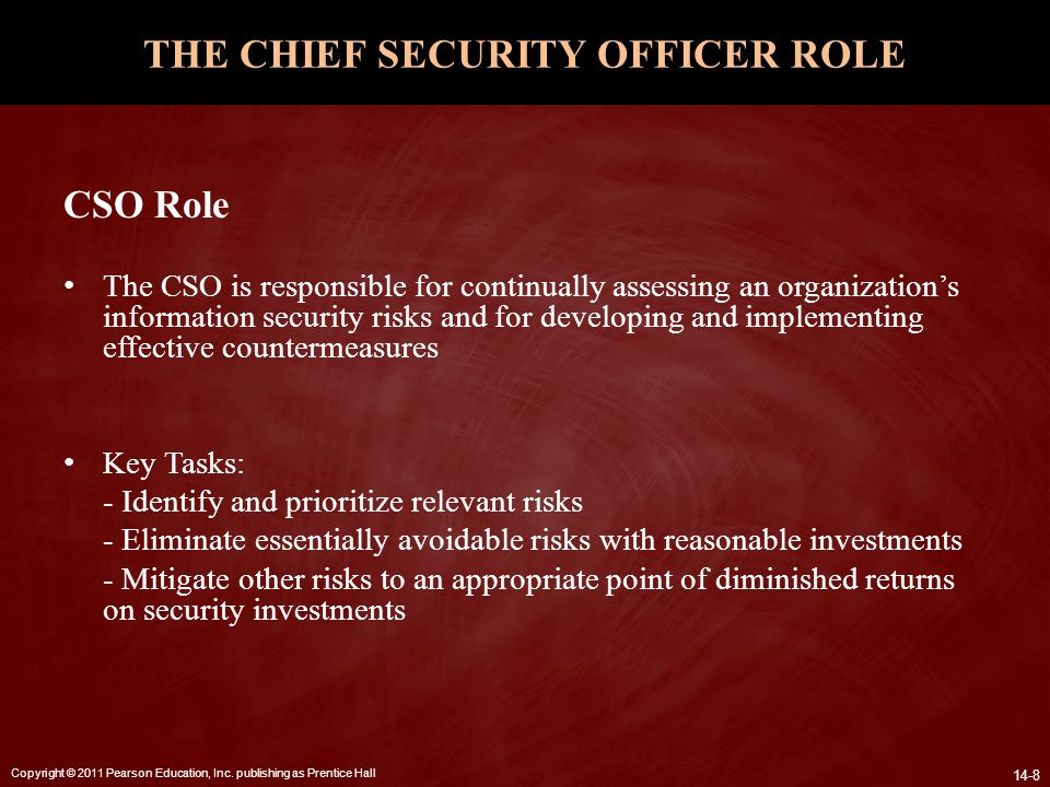 THE CHIEF SECURITY OFFICER ROLE
