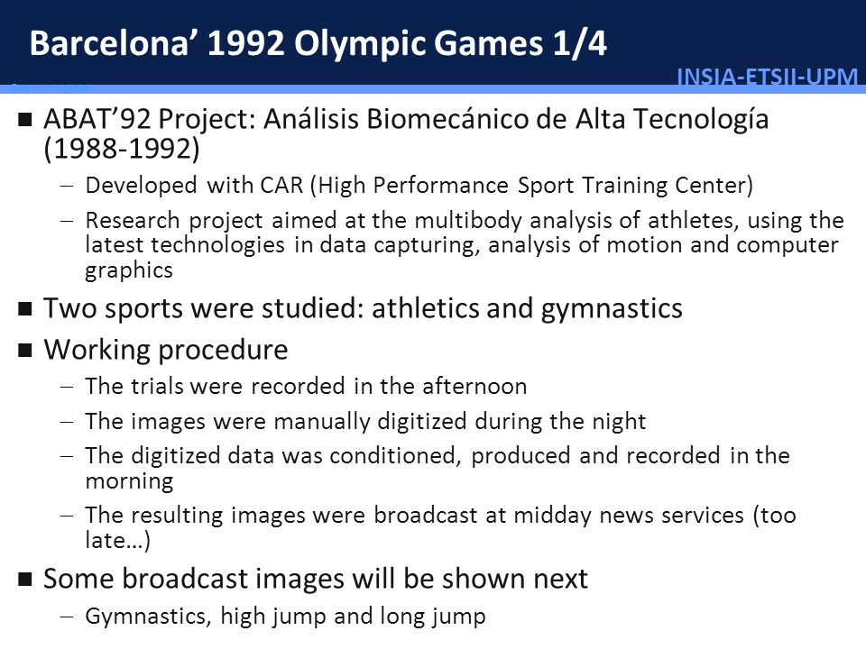 Barcelona' 1992 Olympic Games 1/4