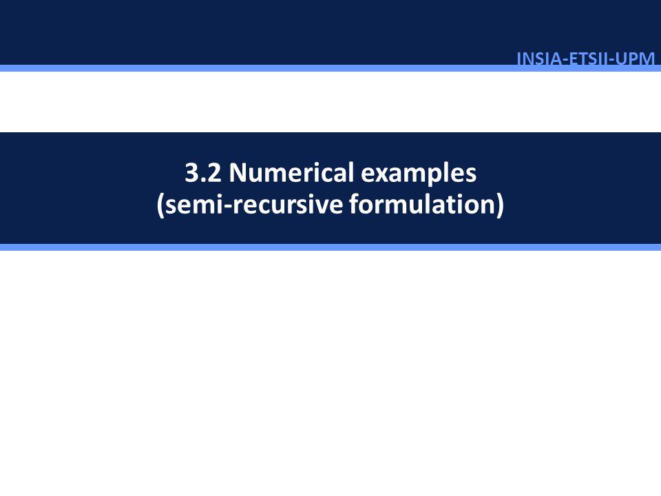 3.2 Numerical examples (semi-recursive formulation)