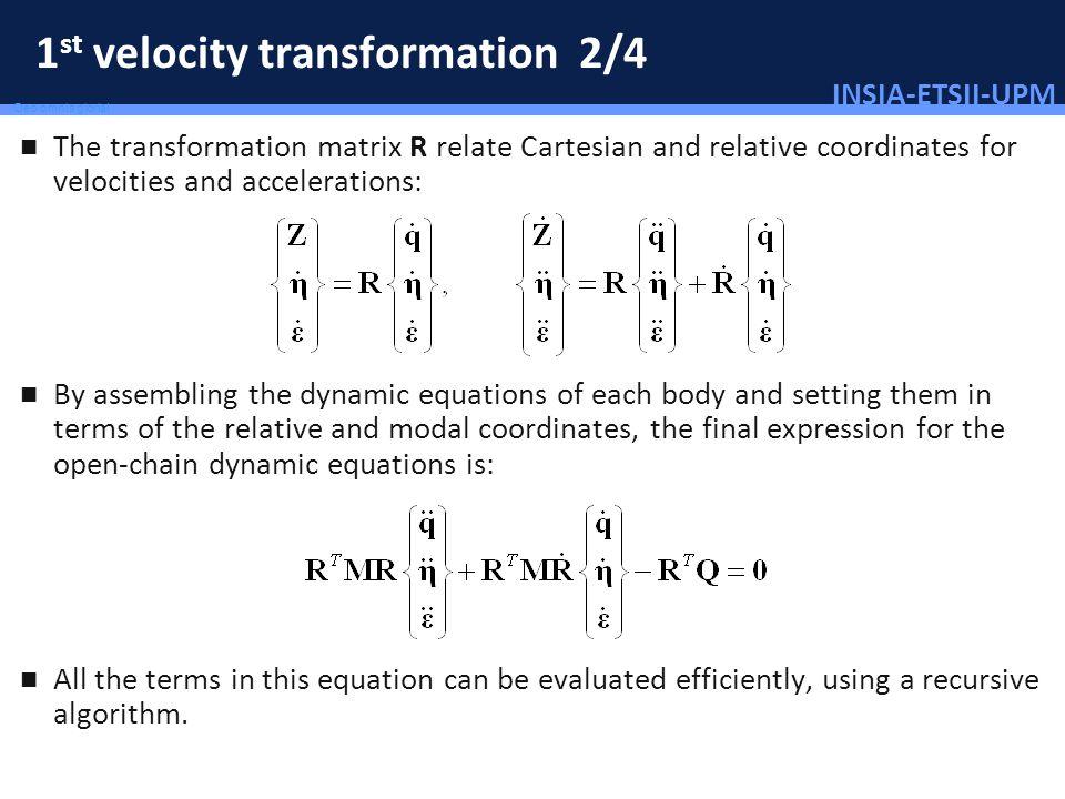 1st velocity transformation 2/4