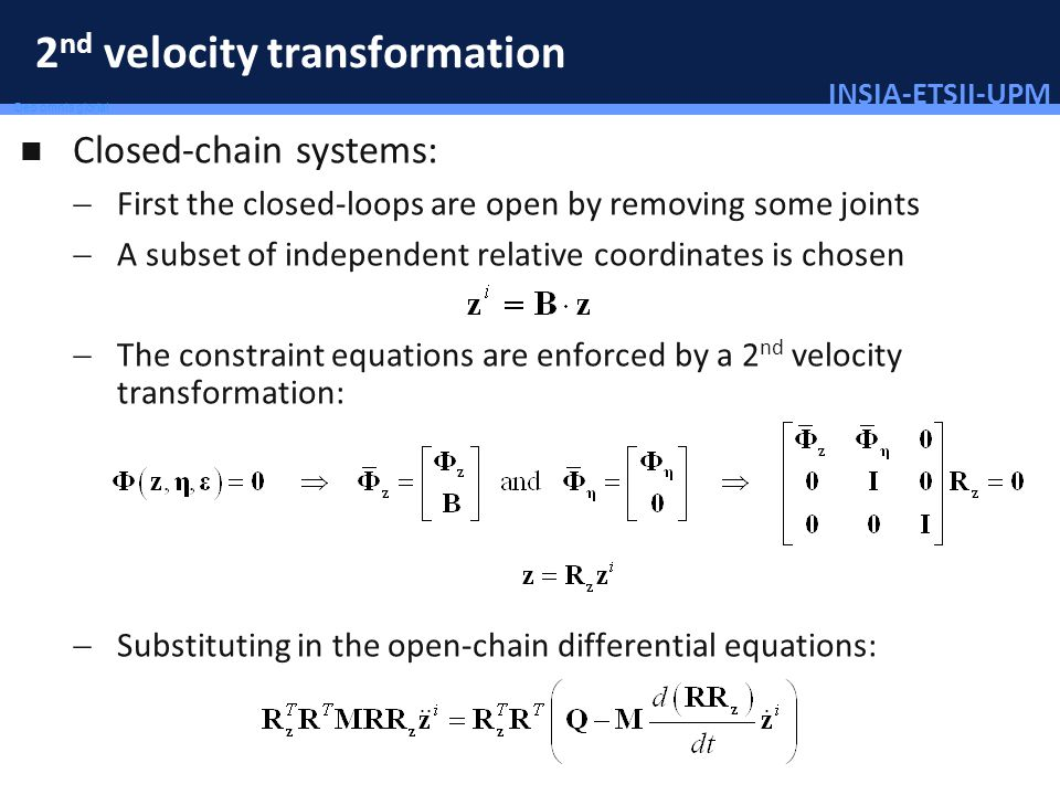 2nd velocity transformation