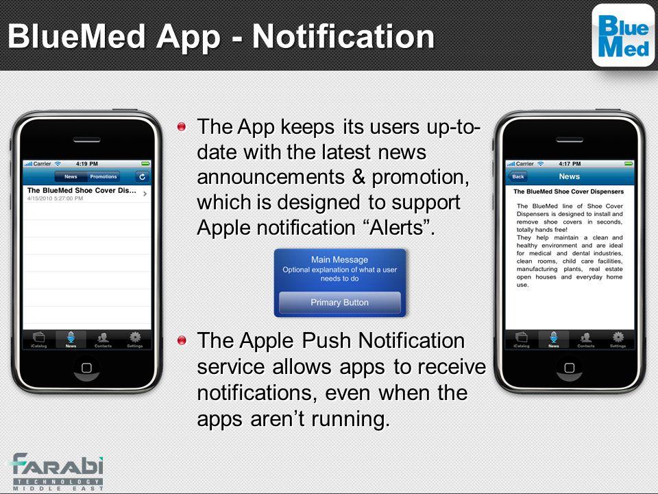 BlueMed App - Notification