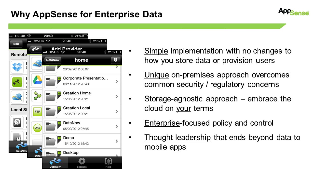 Why AppSense for Enterprise Data