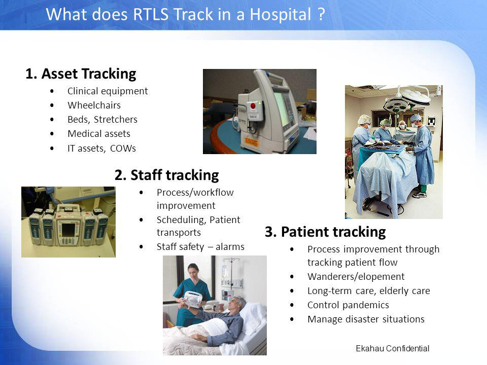 What does RTLS Track in a Hospital