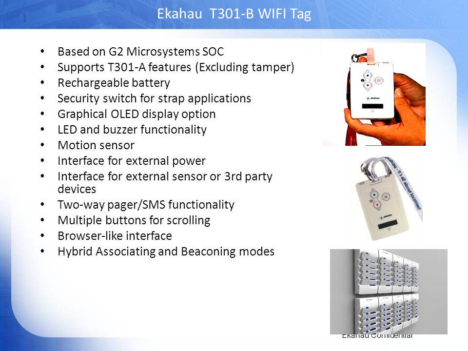 Ekahau T301-B WIFI Tag Based on G2 Microsystems SOC