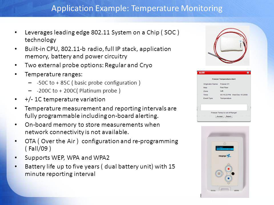 Application Example: Temperature Monitoring