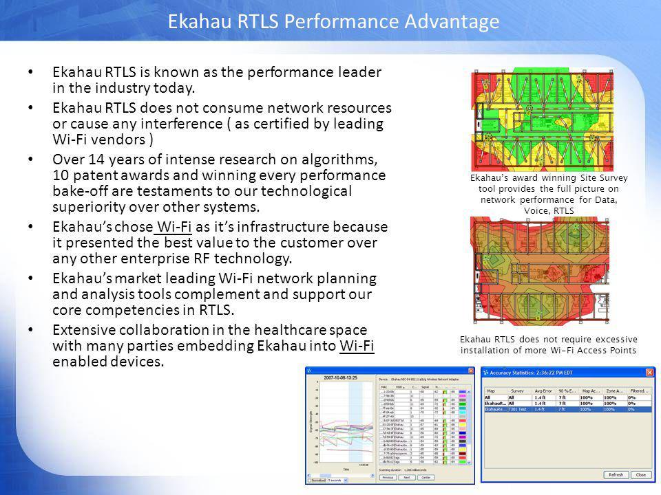 Ekahau RTLS Performance Advantage