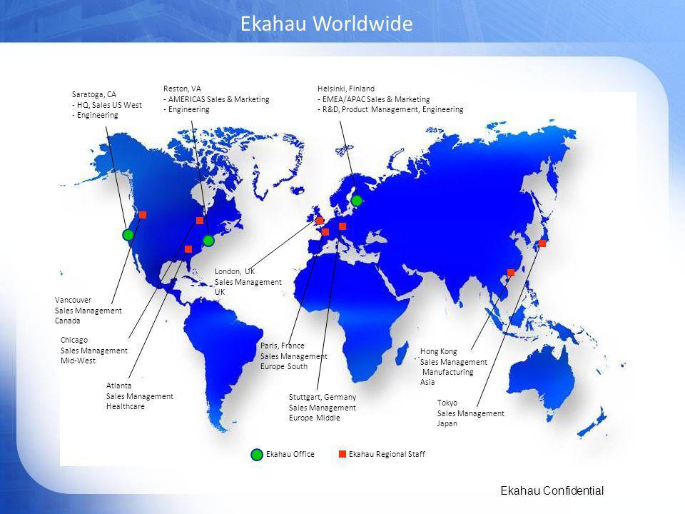 Ekahau Worldwide 3 Reston, VA AMERICAS Sales & Marketing Engineering