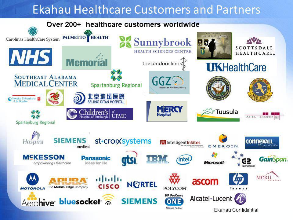 Ekahau Healthcare Customers and Partners